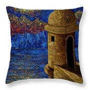 Midnight Mirage In San Juan Throw Pillow