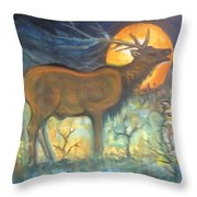 Midnight Mountain Magic 1 Throw Pillow