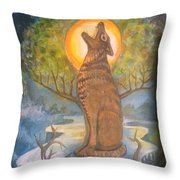 Midnight Mountain Majic 3 Throw Pillow