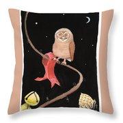 Midnight Owl Throw Pillow