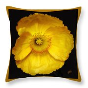 Midnight Poppy Throw Pillow