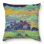 Midnight Prairie Dream Throw Pillow