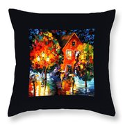 Midnight Rain Throw Pillow