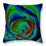 Midnight Rose Throw Pillow