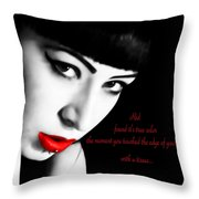 Midnight Ruby Throw Pillow