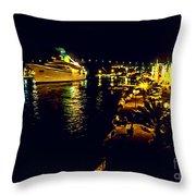 Midnight Sail Throw Pillow