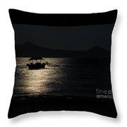 Midnight Sailing Throw Pillow