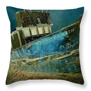 Midnight Shipwreck Throw Pillow