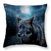 Midnight Spirit Throw Pillow