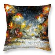 Midnight Storm Throw Pillow