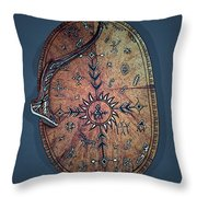 Midnight Sun Drum Throw Pillow
