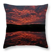 Midnight Sun In Norbotten Throw Pillow