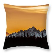 Midnight Sunset Throw Pillow