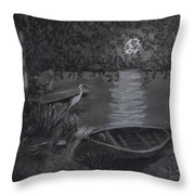 Midnight Visitor Throw Pillow