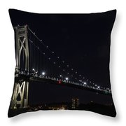 Midnite Crossing Throw Pillow