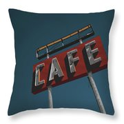 Midpoint Cafe Throw Pillow