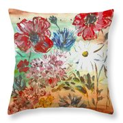 Midsummer Delight Throw Pillow