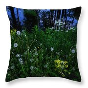 Midsummer Night's Magic Throw Pillow