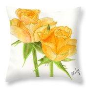 Midsummer Roses Throw Pillow