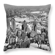 Midtown And Central Park View Throw Pillow