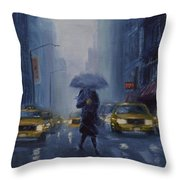 Midtown Blue Throw Pillow