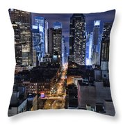 Midtown Looking From The West Throw Pillow