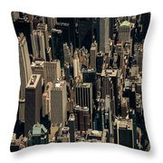 Midtown Manhattan Skyline Aerial Throw Pillow