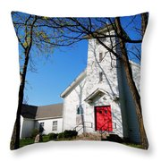 Midway Locust Grove United Methodist Church Throw Pillow