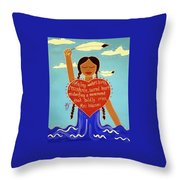 Midwives Of Standing Rock Throw Pillow
