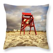 Mighty Red Throw Pillow