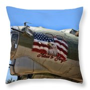 Mighty B-17 Fortress Throw Pillow