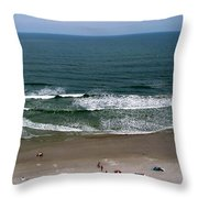 Mighty Ocean Aerial View Throw Pillow
