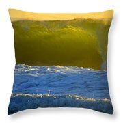 Mighty Ocean At Sunrise Throw Pillow