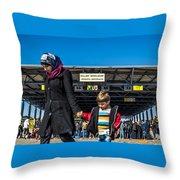 migrants in Nicklesdorf Throw Pillow