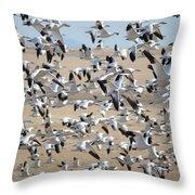 Migrating Snow Geese Throw Pillow