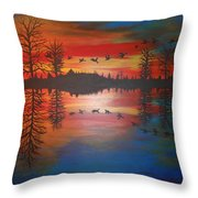 Migration At Summer's End Throw Pillow