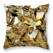 Migration Of The Starlings Throw Pillow