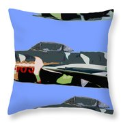Migs In Formation Throw Pillow