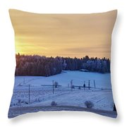Mihari Sunset Throw Pillow