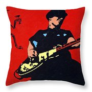 Mike Ness Throw Pillow by Steven Sloan