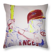 Mike Trout Throw Pillow