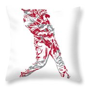 Mike Trout Los Angeles Angels Pixel Art 20 Throw Pillow