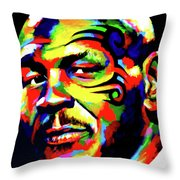 Mike Tyson Abstract Throw Pillow