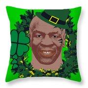 Mike Tyson Funny St. Patrick's Day Design Kith Me I'm Irith Throw Pillow