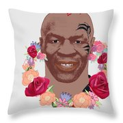 Mike Tyson Inspired Valentines Happy Valentine'th Day  Throw Pillow