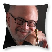 Mike Vax Professional Trumpet Player Photographic Print 3759.02 Throw Pillow