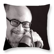 Mike Vax Professional Trumpet Player Photographic Print 3760.01 Throw Pillow