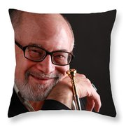 Mike Vax Professional Trumpet Player Photographic Print 3760.02 Throw Pillow
