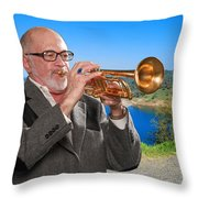 Mike Vax Professional Trumpet Player Photographic Print 3761.02 Throw Pillow