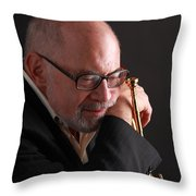 Mike Vax Professional Trumpet Player Photographic Print 3762.02 Throw Pillow